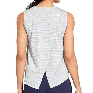 Athleta Breezy Bella Open Back Muscle Tank in Gray